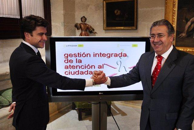 Zoido Y Pérez Presentan La Nueva Herramienta De Lipasam