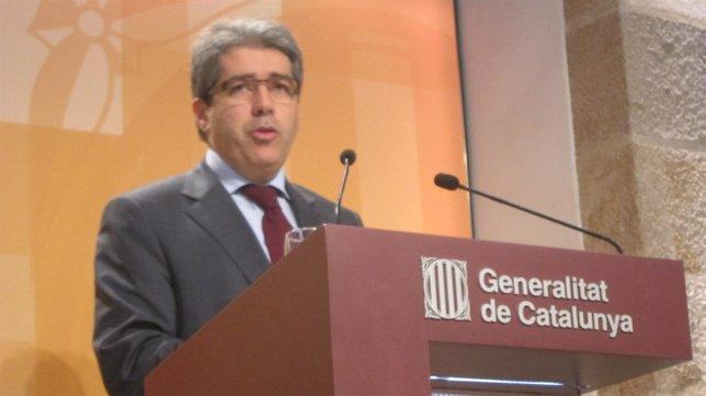 Francesc Homs, En Rueda De Prensa Del Consell Executiu