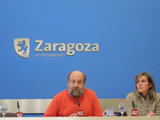 Alonso Y Sanromán En La Sala De Prensa