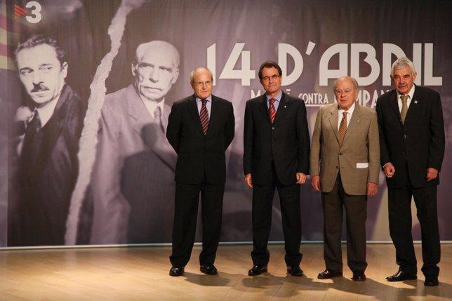 Josep Montilla, Artur Mas, Jordi Pujol Y Pasqual Maragall