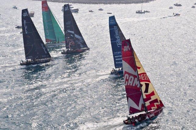Vela VOR CAMPER, Team Telefonica, Abu Dhabi, Groupama Sailing, PUMA Ocean Racing
