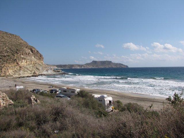 Imagen de la Cala del Plomo, en el Cabo de Gata (Almería)