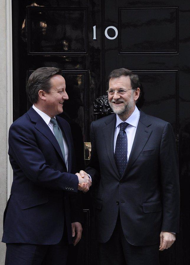 David Cameron Y Rajoy, En Downing Street 10