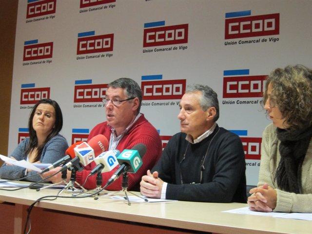 Rueda de CCOO en Vigo sobre incidentes