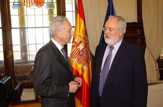 Arias Cañete Y El Consejero De Aragón, Modesto Lobón