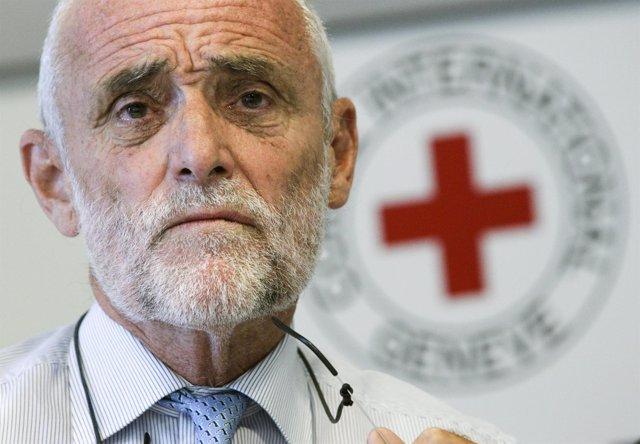 El Presidente Del Comité Internacional De Cruz Roja, Jakob Kellenberger