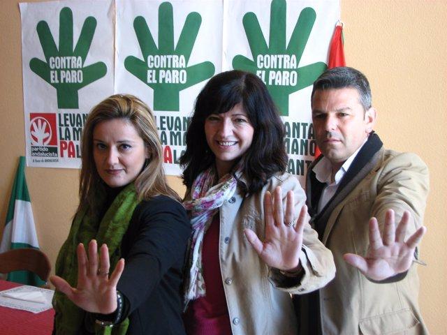Pilar González, Entre Antonio Manuel Rodríguez Y Carmen López En Palma Del Río