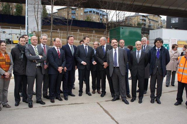 Visita De Mariano Rajoy Al 'Crossrail' De Londres
