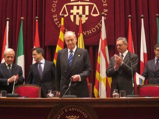 Pascual Sala (Pte. TC), El Rey Juan Carlos Y El Ministro A.R. Gallardón