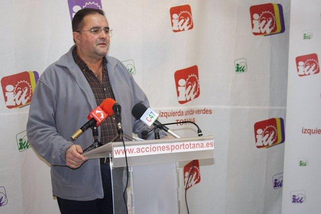 El Portavoz De IU En Totana, Juan José Cánovas