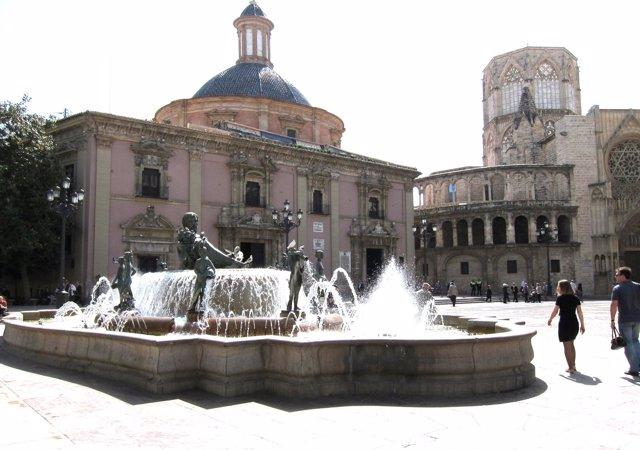 Imagen de la Plaza de la Virgen de Valencia