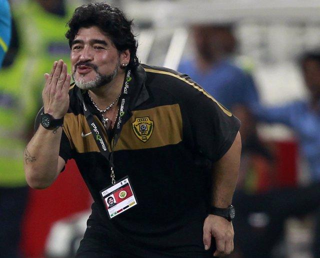 Diego Armando Maradona Como Entrenador Del Al Wasl