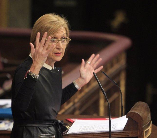 Rosa Díez, Portavoz De Upyd, En El Pleno