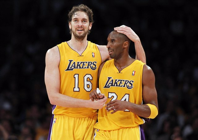 Pau Gasol y Kobe Bryant LA Lakers