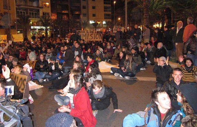 Manifestación De Estudiantes En Alicante