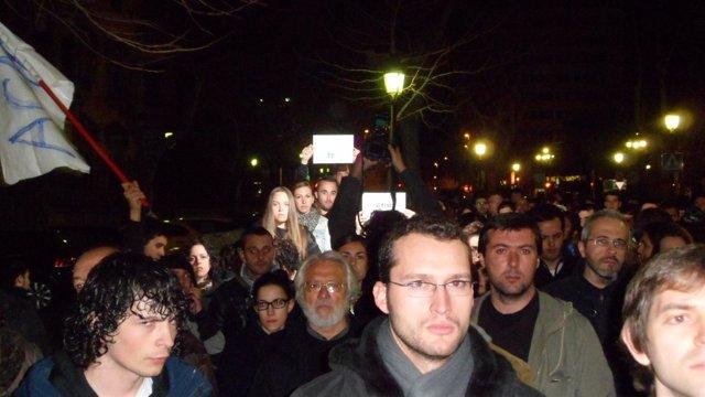 Manifestación En Apoyo A Los Estudiantes De Valencia.