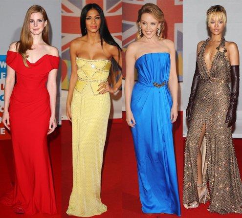 Montaje De Lana Del Rey, Nicole Scherzinger, Kylie Minogue Y Rihanna En Los Brit