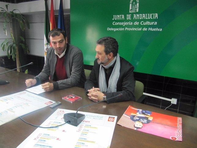 El Delegado De Cultura, Ángel Romero, Junto A Nicolás Romero.