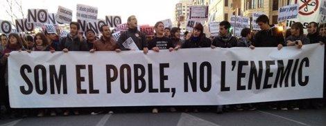 Inicio De La Nueva Marcha En Valencia Tras Las Últimas Protestas Estudiantes
