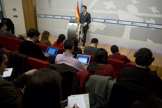 Fotos Xunta. O Presidenteda Xunta Informa En Rolda De Prensa Dos Asuntos Abordad