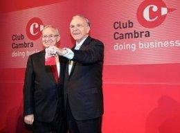 Miquel Valls E Isidro Fainé, En La Presentación Del Club Cambra