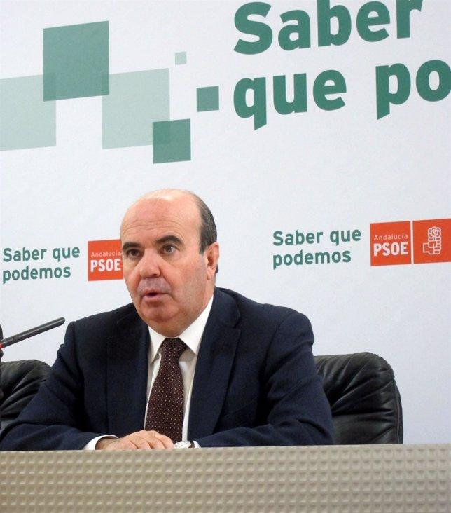Gaspar Zarrías, En La Rueda De Prensa.