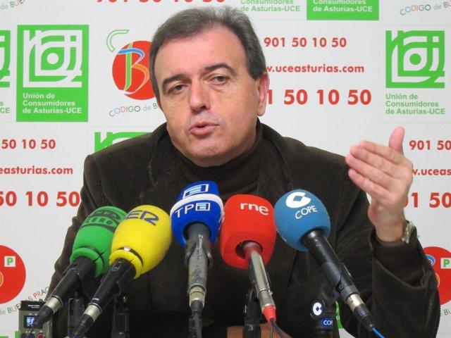 El Presidente De UCE Asturias, Dacio Alonso, En Rueda De Prensa