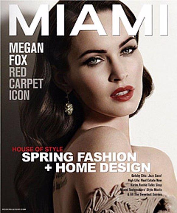 Portada Megan Fox Miami Magazine