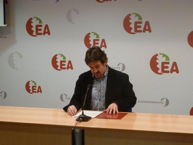 El Secretario General De EA, Peio Urizar.