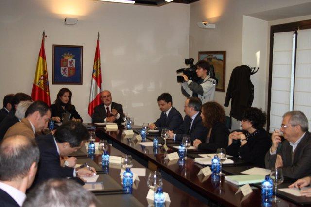 Capoulas Y Clemente En La Reunión Sobre La PAC