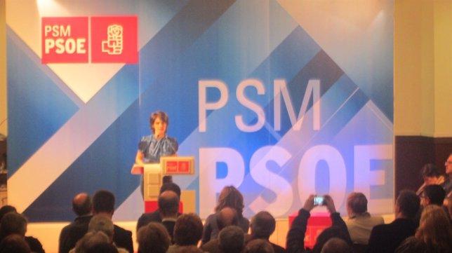 Pilar Sánchez Acera, Durante La Presentación