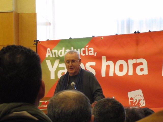 El Coordinador General De IU Cayo Lara En Málaga