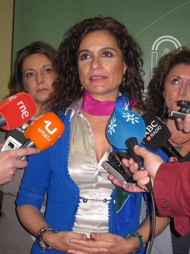 La Consejera De Salud De La Junta De Andalucía, María Jesús Montero