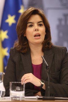 Rueda De Prensa De Soraya Saénz De Santamaría