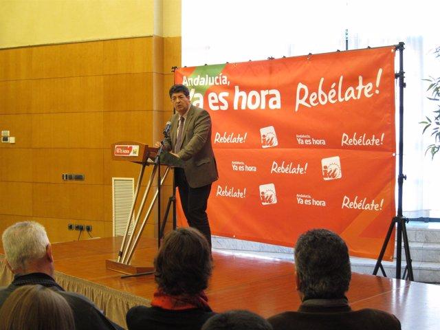 Diego Valderas, Coordinador Regional De IU