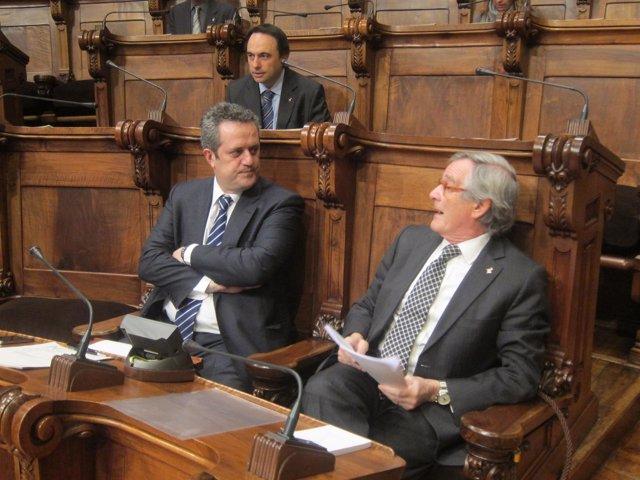 J.Forn Y X.Trias, En El Pleno Del Ayuntamiento