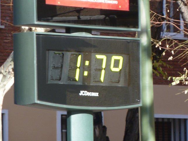 Buen tiempo, termómetro