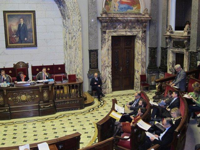 Pleno Del Ayuntamiento De Valencia, Durante La Intervención De Ribó