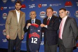 José Luis Sáez Y Marc Gasol Presentan España-USA