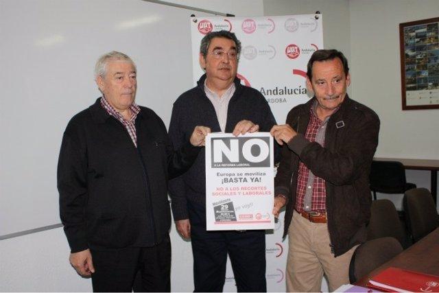 Ferrer, Entre Valverde Y El Secretario De UGT-Córdoba