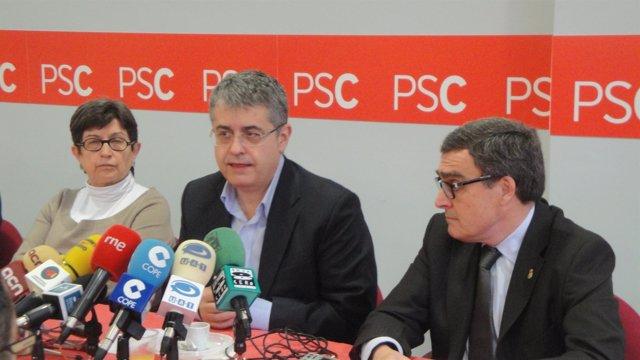 Tere Cunillera, Antoni Llena Y Àngel Ros, Del PSC