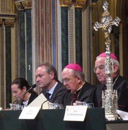 Pilar De La Oliva, Alberto Fabra, Carlos Osoro Y Renzo Fratini Durante El Acto.