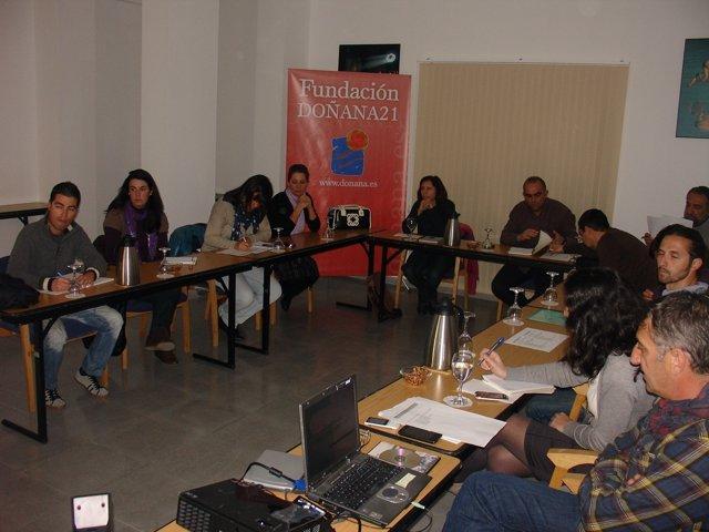 Participantes Del 'Aula Entorno', Organizada Por La Fundación Doñana 21.