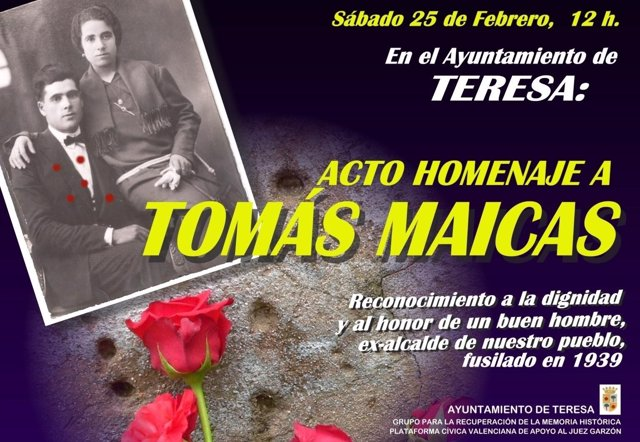 Homenaje A Tomás Maicas En Teresa (Castellón)
