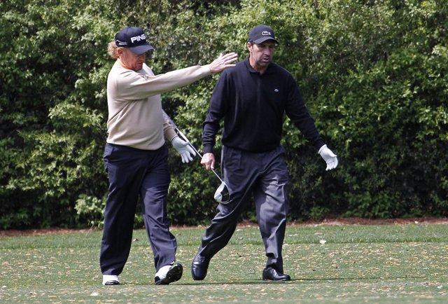 Jimenez y Olazabal pasean por el recorrido de Augusta