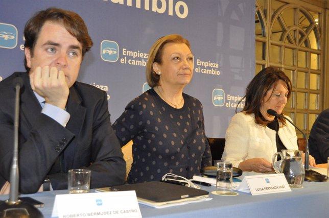Luisa Fernanda Rudi, Roberto Bermúdez De Castro Y Rosa Plantagenet, Del PP.