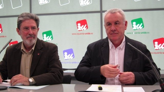 Cayo Lara En Rueda De Prensa Con Adolfo Barrena