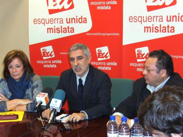Marga Sanz (EU) Y Gaspar Llamazares (IU)
