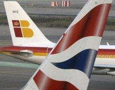 Aviones de Iberia y British Airways