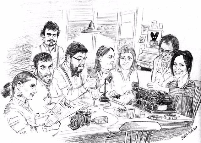 Ilustración De Gonzalo Vilas Como Imagen Del Grupo Promotor De Dioivo